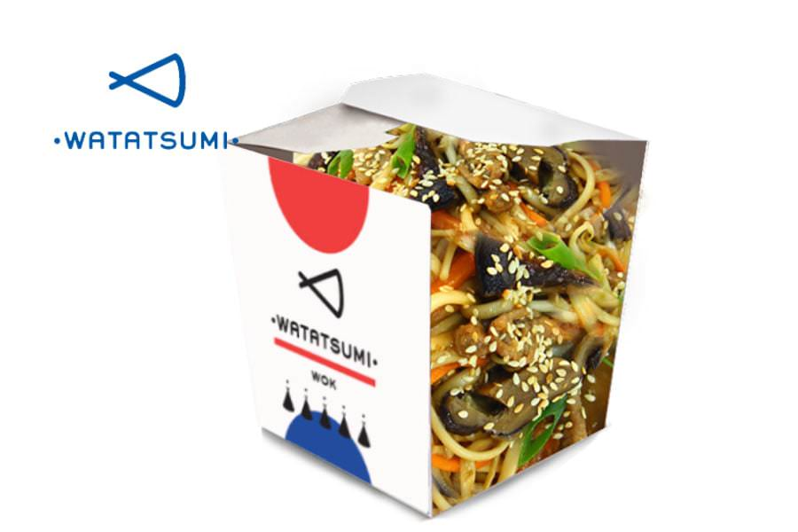 Удон с говядиной и овощами от Watatsumi