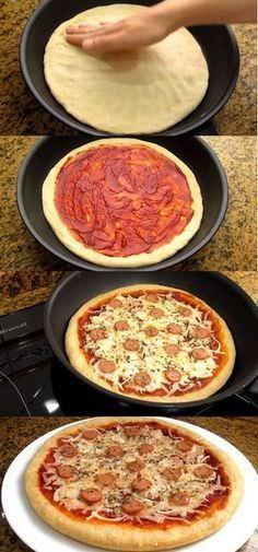 пошаговый рецепт пиццы в домашних условиях